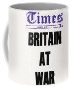 World War I Headline, 1914 Coffee Mug