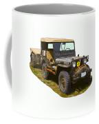 World War Two Army Jeep With Trailer  Coffee Mug