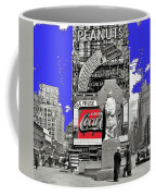 Wrapped  Fr. Duffy Statue Times Square New York Peter Sekaer Photo 1937 Color Added 2014 Coffee Mug