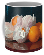 Wrapped Oranges On A Tabletop Coffee Mug