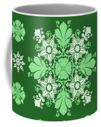 Wrapping Wallpaper Floral Seamless Tile For Website Vector, Repeating Foliage Outline Floral Western Coffee Mug