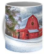 Wreath On A Barn Coffee Mug