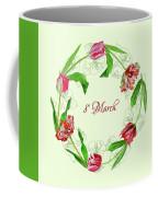 Wreath With Tulips Coffee Mug