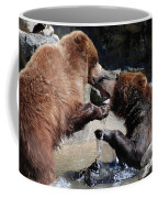 Wrestling Grizzly Bears In A Shallow River Coffee Mug