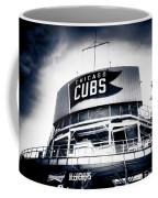 Wrigley Field Bleachers In Black And White Coffee Mug