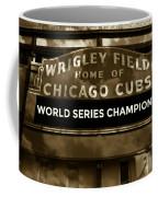 Wrigley Field Sign - Vintage Coffee Mug
