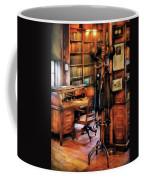 Writer - A Hard Day At Work Coffee Mug by Mike Savad