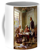 Writing The Declaration Of Independence Coffee Mug by War Is Hell Store