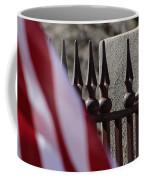 Wrought Iron And American Flag Coffee Mug