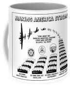 Ww2 Airplane Supply Cartoon  Coffee Mug