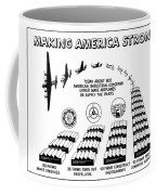 Ww2 Airplane Supply Cartoon  Coffee Mug
