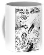 Ww2 Material Conservation Cartoon Coffee Mug by War Is Hell Store
