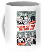 Ww2 Rationing Cartoon Coffee Mug