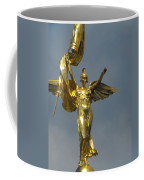Wwi Gold Winged Victory Statue Coffee Mug
