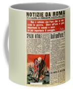 Wwii: Italian Newspaper Coffee Mug