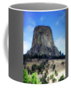 Wyoming Devils Tower With 8 Climbers August 7th 12 36pm 2016 With Inserts Coffee Mug