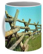 Wyoming Snow Fence Coffee Mug