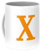 X In Tangerine Typewriter Style Coffee Mug