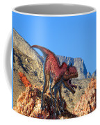 Xuanhanosarus In The Desert Coffee Mug