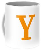 Y In Tangerine Typewriter Style Coffee Mug