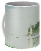 Yacht In A Cove Coffee Mug