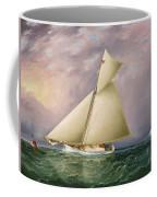 Yacht Race In New York Harbor Coffee Mug