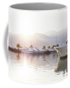 Yachts At The Sunset Coffee Mug