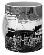 Yachts On Drydock Coffee Mug