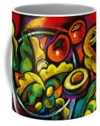 Yammy Salad Coffee Mug by Leon Zernitsky
