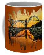 Yaquina Bay Reflections  Coffee Mug