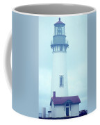 Yaquina Head Lighthouse In The Fog Coffee Mug