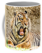 Yawning Bengal Tiger Coffee Mug