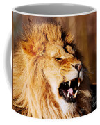 Yawning Lion Coffee Mug by Nick Biemans