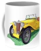 Yellow 1949 M G T C Midget Coffee Mug