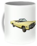 Yellow 1975 Cadillac Eldorado Convertible Coffee Mug