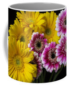 Yellow And Pink Gerbera Daisies Coffee Mug
