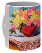 Yellow  And Pink Coffee Mug