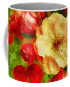 Yellow And Red Floral Delight Coffee Mug