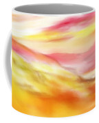 Yellow And Red Landscape Coffee Mug