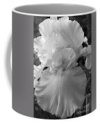 Yellow And White Iris In Bw Coffee Mug