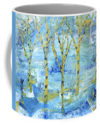 Yellow Birches Coffee Mug
