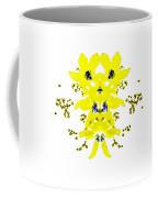 Yellow Blue Blossoms Coffee Mug
