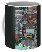 Yellow Bus In Copenhagen Denmark Coffee Mug by Mary Lee Dereske