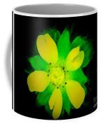 Yellow Buttercup On Black Background Coffee Mug