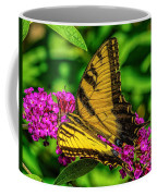 Yellow Butterfly In The Garden Coffee Mug