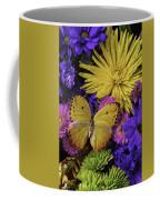 Yellow Butterfly On Bouquet Coffee Mug