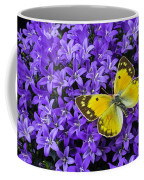 Yellow Butterfly On Mee Coffee Mug