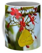 Yellow Butterfly Coffee Mug