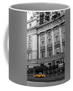 Yellow Cab By The Museum Of Natural History, New York Coffee Mug