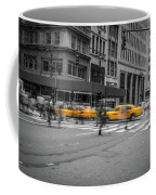 Yellow Cab On Fifth Avenue, New York 4 Coffee Mug